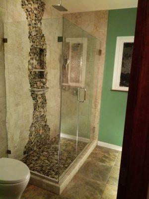 Unik-Interior-Designs-Simi-Valley-CA-Nika-Roback-Ventura-Bathroom-Pebble Shower
